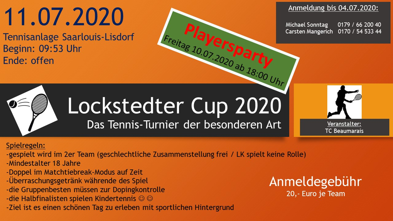 Plakat Lockstedter Cup 2020